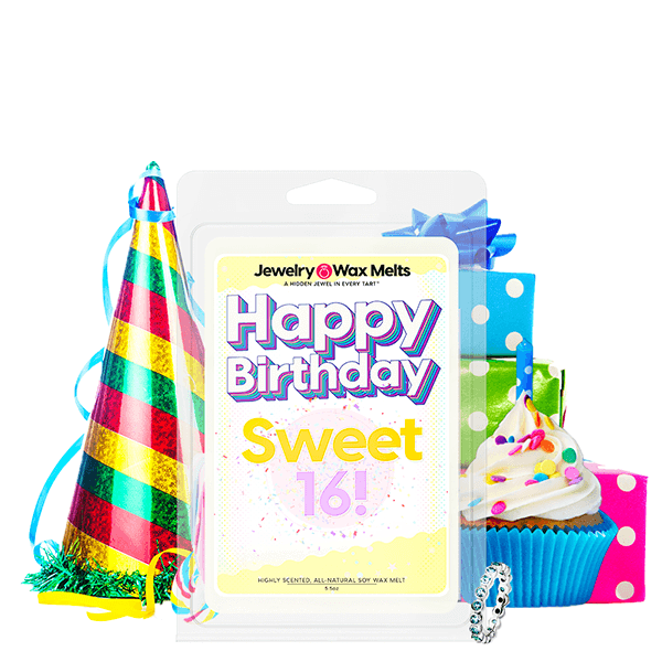 Happy Birthday Sweet 16! Happy Birthday Jewelry Wax Melt - BathBombs.Com