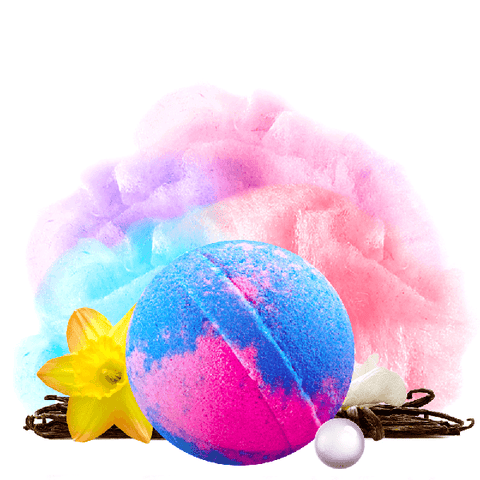 Carnival Cotton Candy Pearl Party Bath Bomb - BathBombs.Com