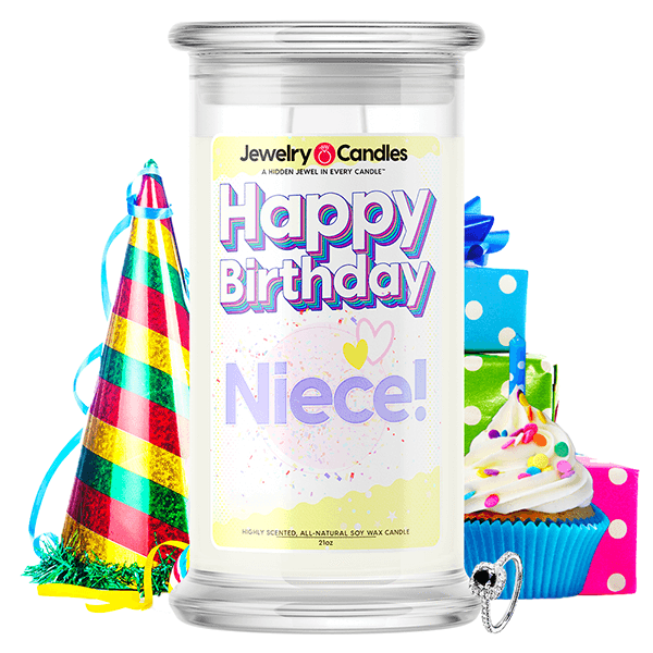 Happy Birthday Niece! Happy Birthday Jewelry Candle - BathBombs.Com