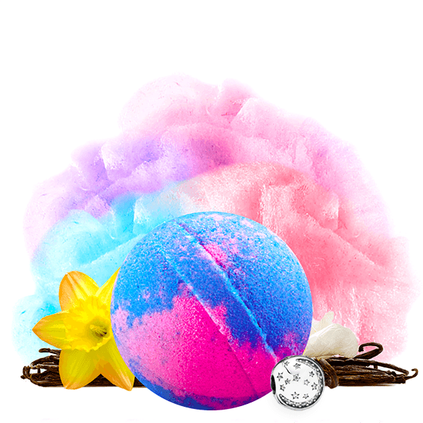Carnival Cotton Candy Charm Bath Bomb - BathBombs.Com