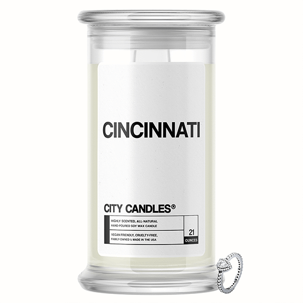 Cincinnati City Jewelry Candle - BathBombs.Com