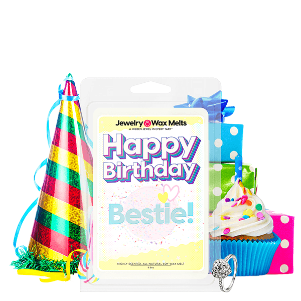Happy Birthday Bestie! Happy Birthday Jewelry Wax Melt - BathBombs.Com
