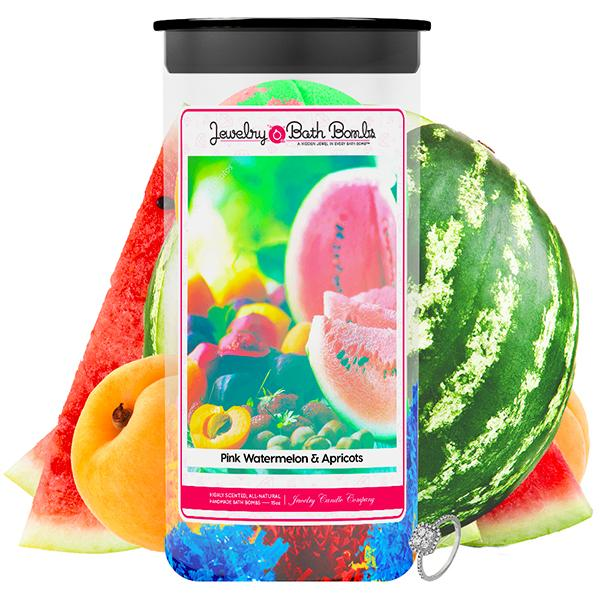 Pink Watermelon & Apricots Jewelry Bath Bombs Twin Pack - BathBombs.Com