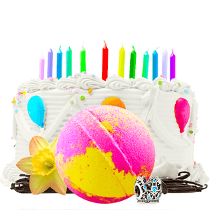 Birthday Cake Charm Bath Bomb - BathBombs.Com