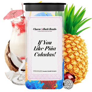 If You Like Piña Coladas! Charm Bath Bombs Twin Pack - BathBombs.Com