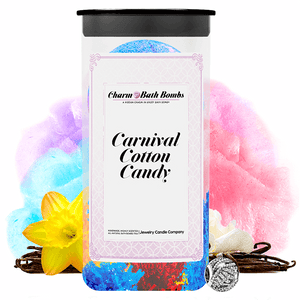 Carnival Cotton Candy Charm Bath Bombs Twin Pack - BathBombs.Com