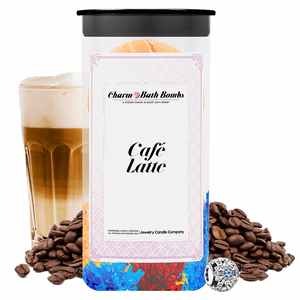 Café Latte Charm Bath Bombs Twin Pack - BathBombs.Com