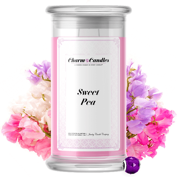 Sweet Pea Charm Candle - BathBombs.Com