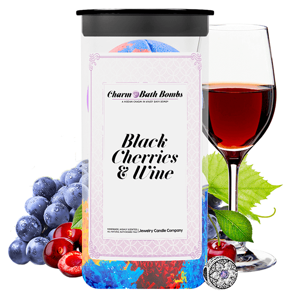 Black Cherries & Wine Charm Bath Bombs Twin Pack - BathBombs.Com