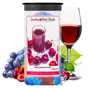 Black Cherries & Wine Jewelry Bath Bombs Twin Pack - BathBombs.Com