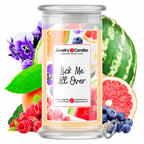 Lick Me All Over Jewelry Candle - BathBombs.Com