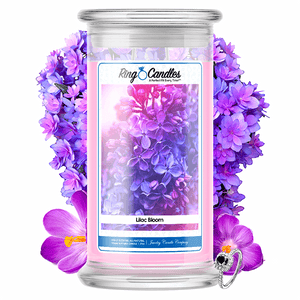 Lilac Bloom Ring Candle - BathBombs.Com