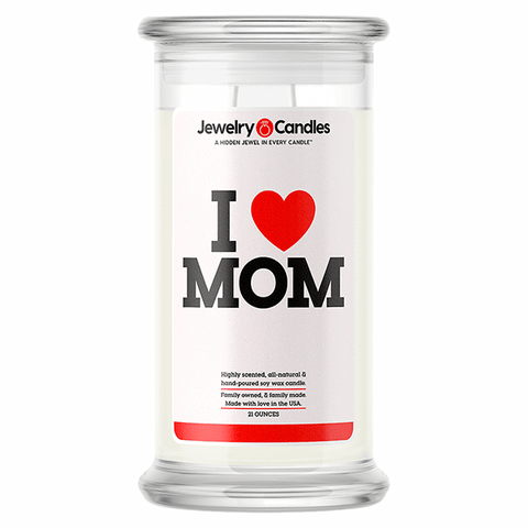 I Love Mom Love Candle