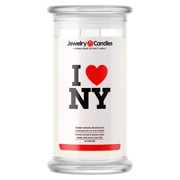 I Love NY Love Candle - BathBombs.Com