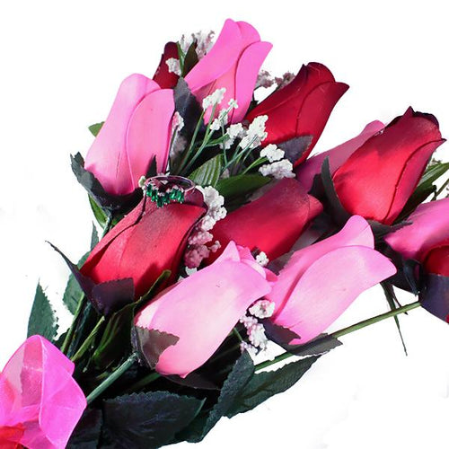 Pink & Red Bouquet | Jewelry Surprise Roses® - BathBombs.Com