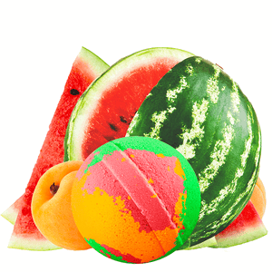 Pink Watermelon & Apricots Dollar Bath Bomb - BathBombs.Com