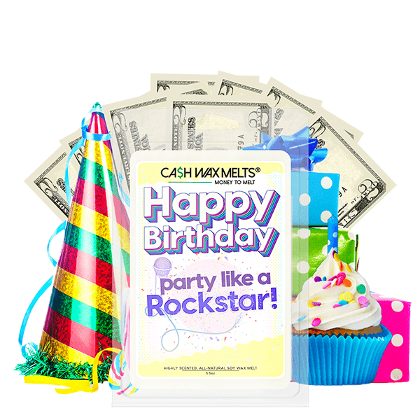 Happy Birthday Party like a Rockstar! Happy Birthday Cash Wax Melt - BathBombs.Com