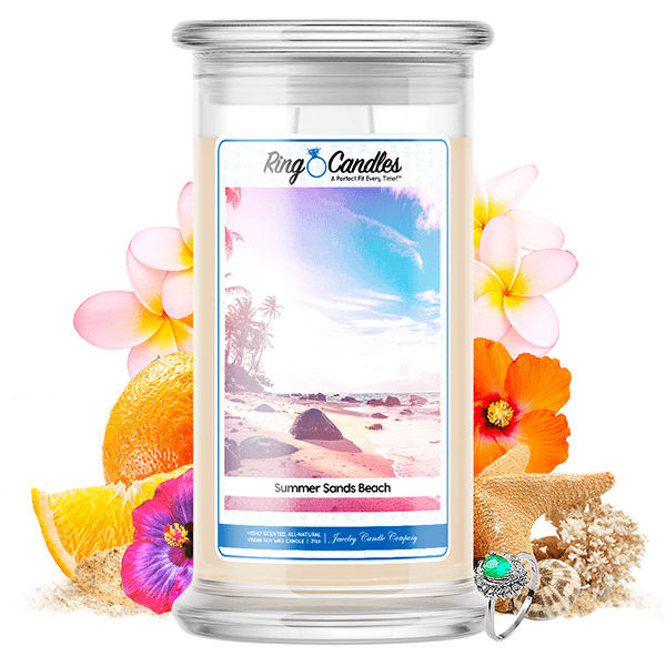 Summer Sands Beach Ring Candle - BathBombs.Com