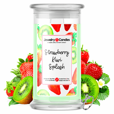 Strawberry Kiwi Splash Jewelry Candle - BathBombs.Com