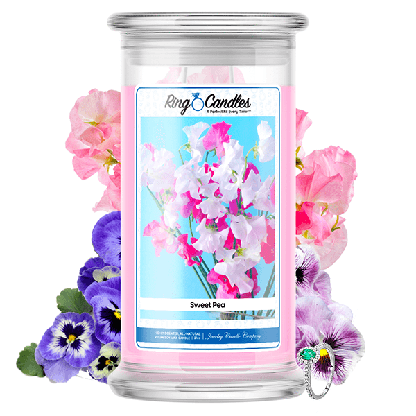 Sweet Pea Ring Candle - BathBombs.Com