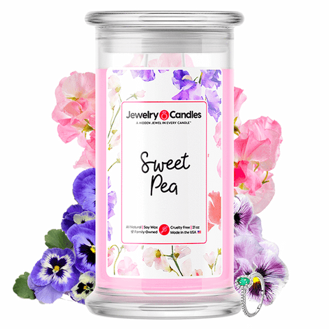 Sweet Pea Jewelry Candle - BathBombs.Com
