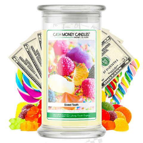 Sweet Tooth Cash Money Candle - BathBombs.Com