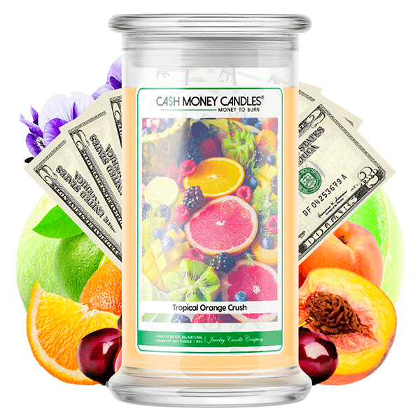 Tropical Orange Crush Cash Money Candle - BathBombs.Com