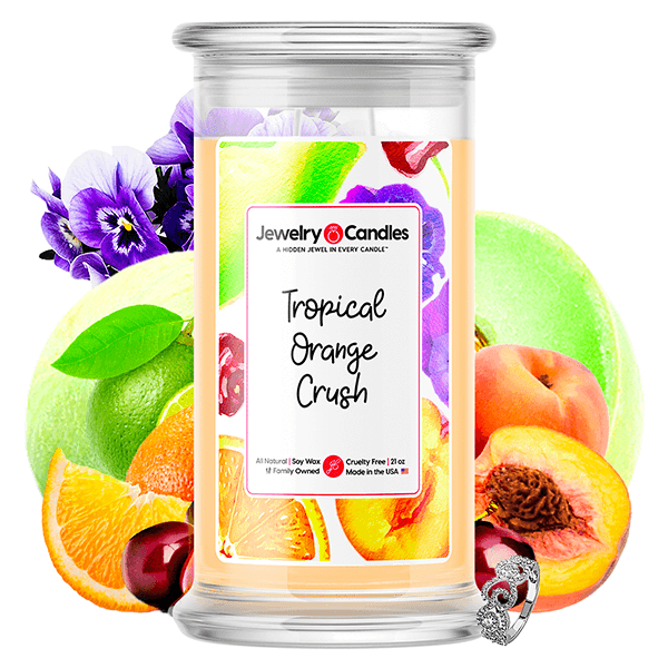 Tropical Orange Crush Jewelry Candle - BathBombs.Com