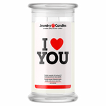 I Love You Love Candle