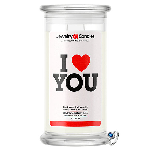 I Love You Jewelry Love Candle - BathBombs.Com