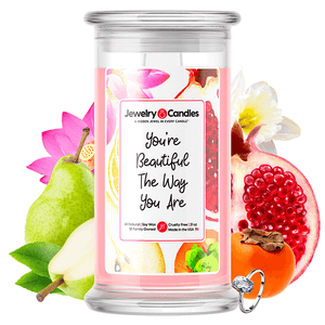 You're Beautiful The Way You Are Jewelry Candle - BathBombs.Com