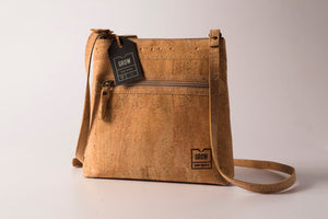Genuine cork leather crossbody bag