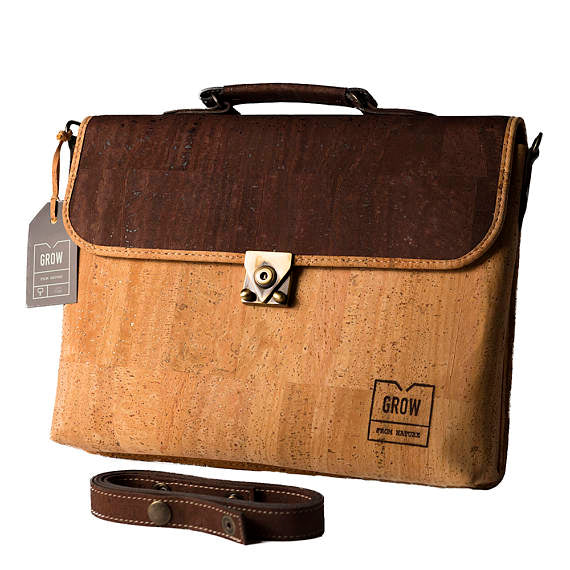 Cork Briefcase, Laptop Case 13.3""