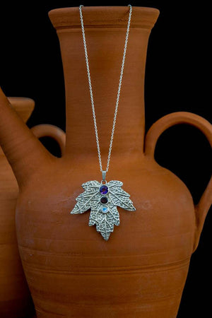 Elvish Silver Leaf Necklace