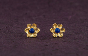 Gold Flowers Earrings