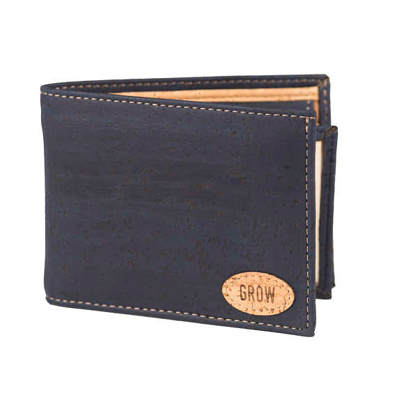 Men Blue Cork Wallet