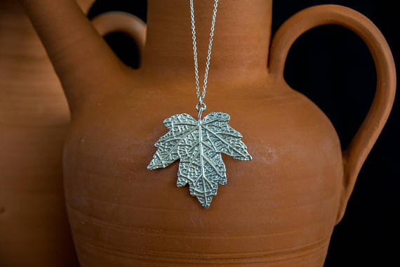Maple Leaf Pendant Sterling Silver