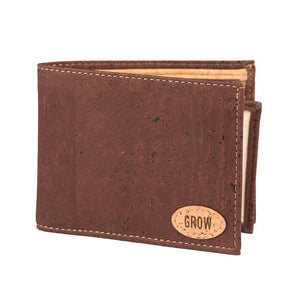 Men Wallet Brown Cork Wallet