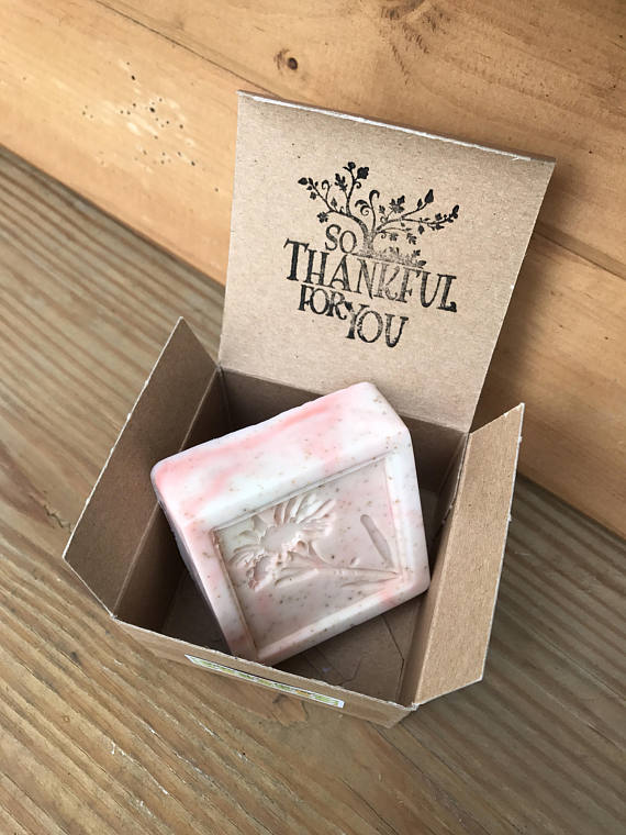 Peach Vanilla Swirl Soap