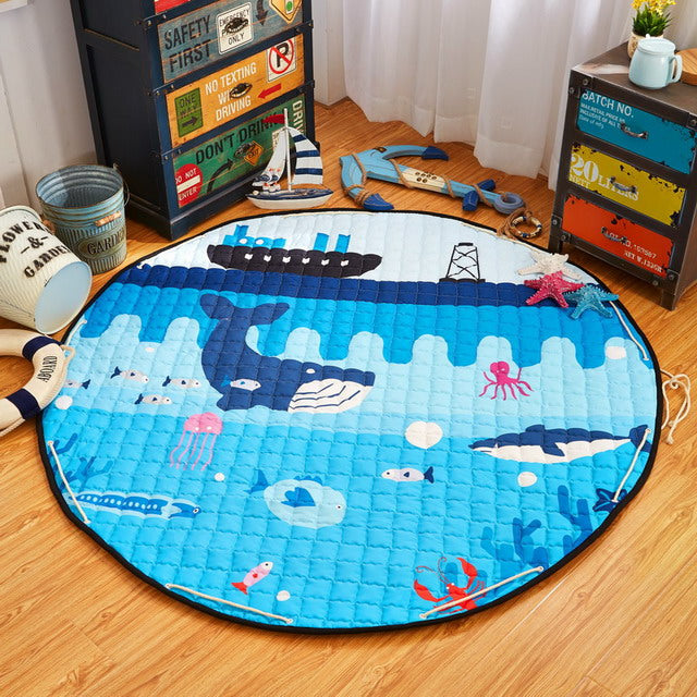 150CM Cotton Baby Carpet Play Mat for Children Carpet Rug Baby Play Carpet For Kids Toys Organizer Bag Portable Storage Bag PX26