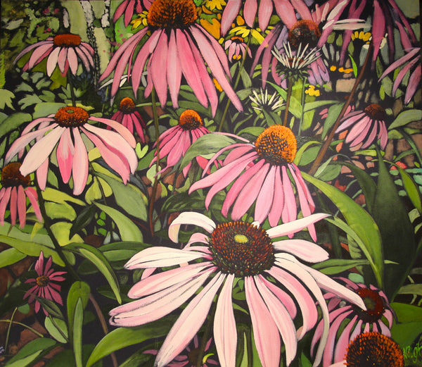 A Tangle of Cone Flowers