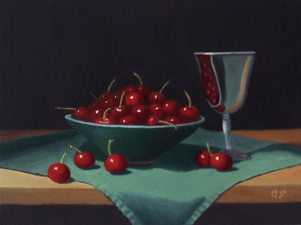 Cherries and Goblet