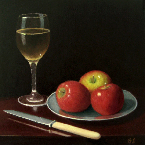 Apples, Knife and Wine