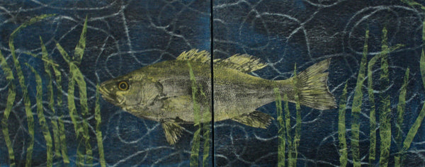 Small Mouth Bass A+B (Diptych)