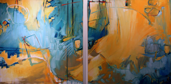 Emerging Forms (diptych)
