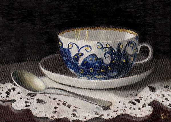 Teacup with Peacock