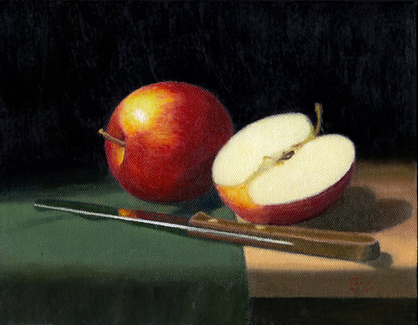 Apples - Knife and Cloth
