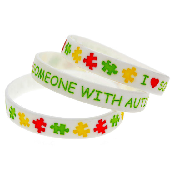 I Love Someone with Autism Silicone Wristband-lucascott