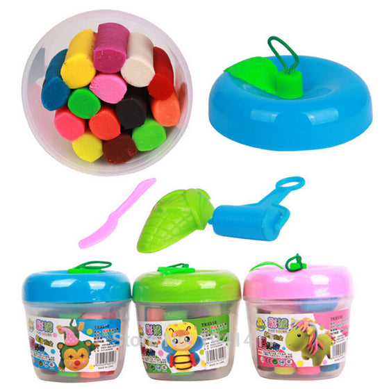 Buy Now Silly Putty Plasticine Clay Educational Soft Play Dough 14 color set.