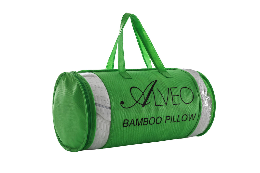 alveo bamboo shredded memory foam pillow with a removable soft zip cover